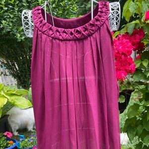 Designer Dark pink flowy tank/camisole